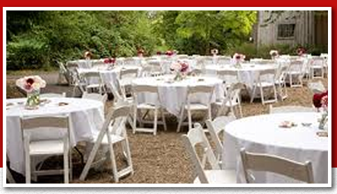 party rentals chairs tables tents china flatware glassware in